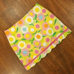 Lilly Pulitzer Floral Scallop Skirt Sunflower